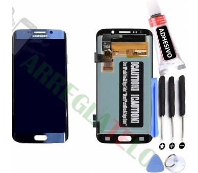 Volledig scherm voor Samsung Galaxy S6 Edge G925F Blue FIX IT - 1