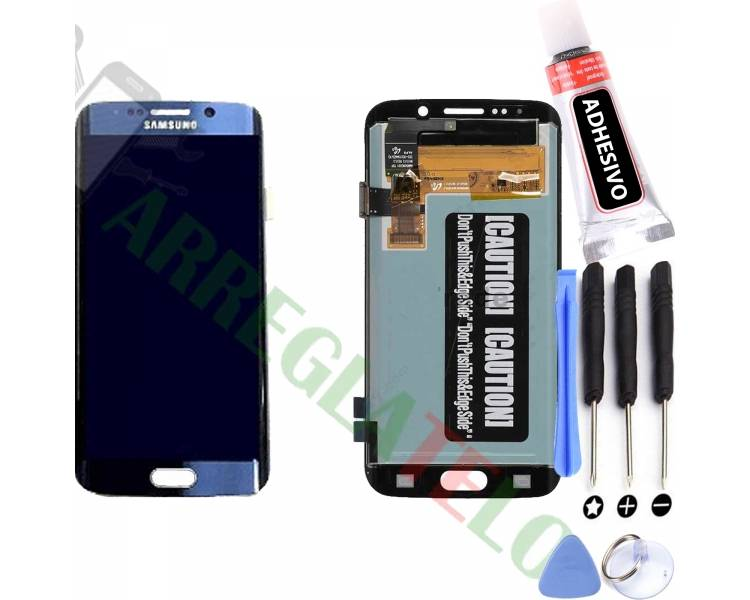 Display For Samsung Galaxy S6 Edge, Color Blue, Original Amoled ARREGLATELO - 1