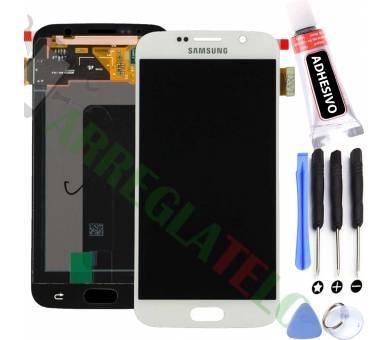 Pełny ekran dla Samsung Galaxy S6 G920F Biały Biały ARREGLATELO - 1