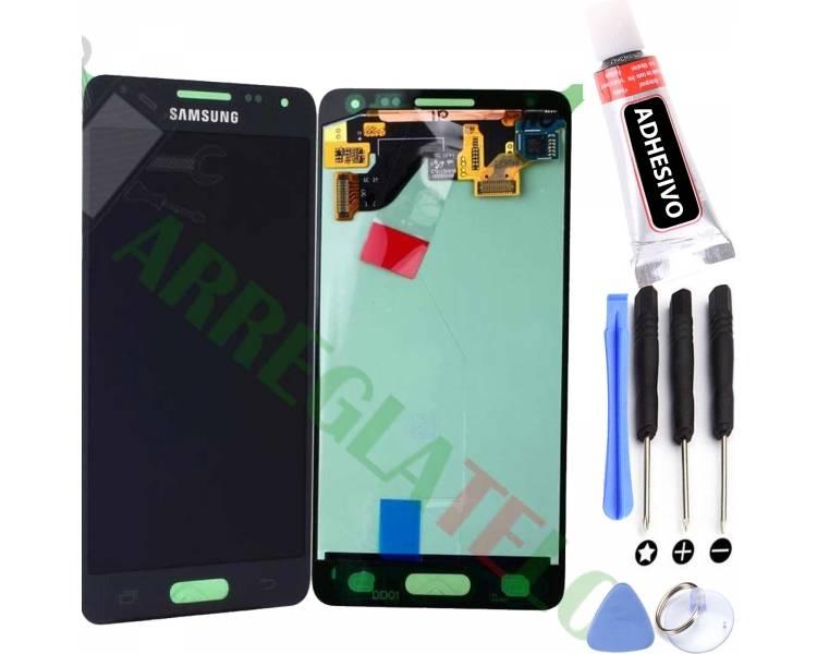 Original Vollbild für Samsung Galaxy Alpha G850F Schwarz Schwarz Samsung - 1