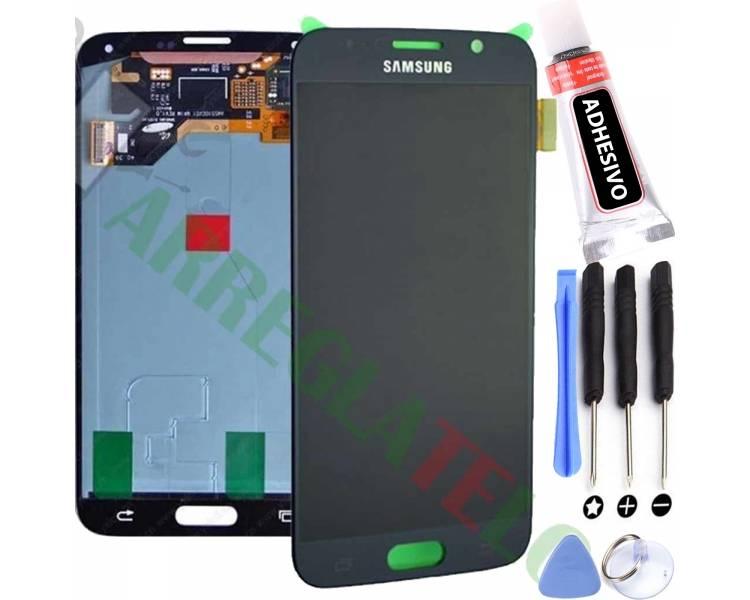 Pełny ekran dla Samsung Galaxy S6 G920F Czarny Czarny ARREGLATELO - 1