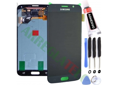 Pantalla Completa para Samsung Galaxy S6 G920F Negro Negra ARREGLATELO - 1