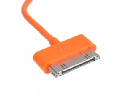 Cable usb carga cargador datos Color Naranja para iPhone Ipod Ipad 3 3G 3GS 4 4S - 6
