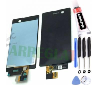 Volledig scherm voor Sony Xperia M5 E5603 E5606 E5653 Zwart Zwart FIX IT - 1