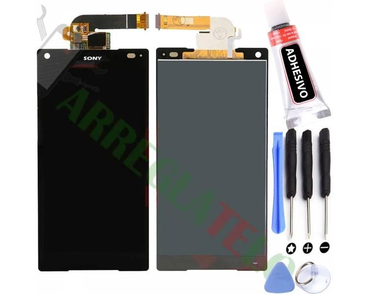 Pełny ekran dla Sony Xperia Z5 Compact Mini E5823 E5803 Czarny Czarny ARREGLATELO - 1