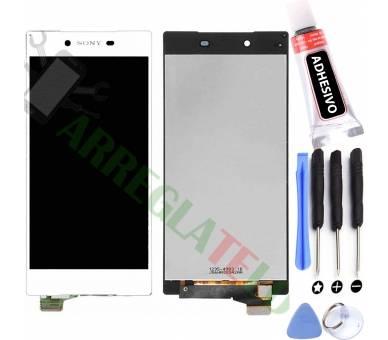 Schermo intero per Sony Xperia Z5 E6603 E6633 E6653 Bianco Bianco ARREGLATELO - 1