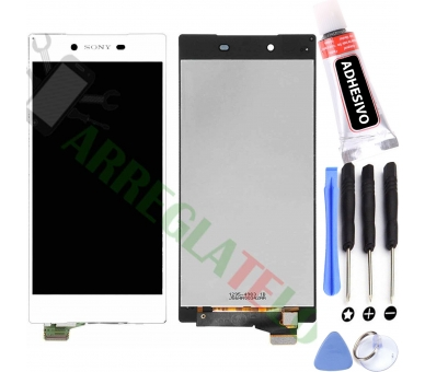 Vollbild für Sony Xperia Z5 E6603 E6633 E6653 Weiß Weiß ARREGLATELO - 1