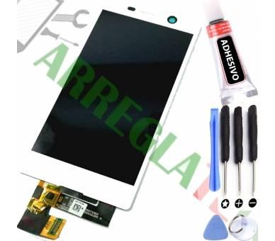 Schermo intero per Sony Xperia M5 E5603 E5606 E5653 Bianco Bianco ARREGLATELO - 1