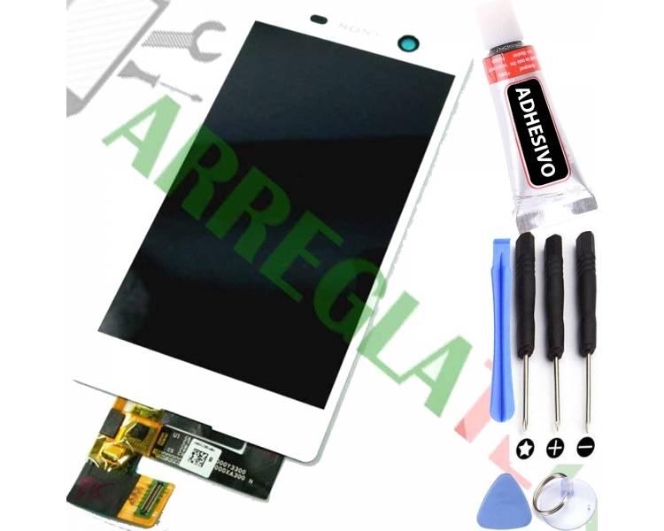 Pełny ekran dla Sony Xperia M5 E5603 E5606 E5653 Biały Biały