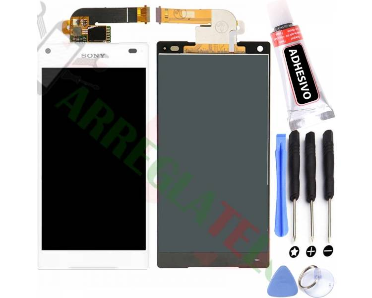 Display For Sony Xperia Z5 Compact | Color White | ULTRA+ - 1