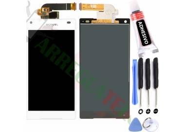 Pantalla Completa para Sony Xperia Z5 Compact Mini E5823 E5803 Blanco Blanca ARREGLATELO - 1