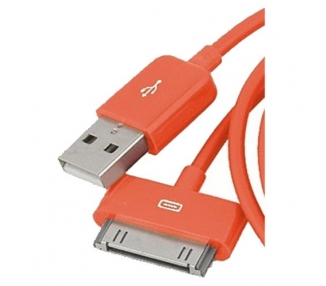 Cable usb carga cargador datos Color Naranja para iPhone Ipod Ipad 3 3G 3GS 4 4S