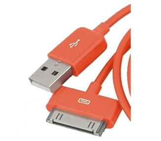 Cable usb carga cargador datos Color Naranja para iPhone Ipod Ipad 3 3G 3GS 4 4S ARREGLATELO - 7