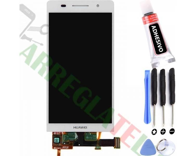 Vollbild für Huawei Ascend P6 Weiß Weiß ARREGLATELO - 1