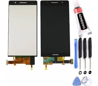 Vollbild für Huawei Ascend P6 Schwarz Schwarz ARREGLATELO - 1