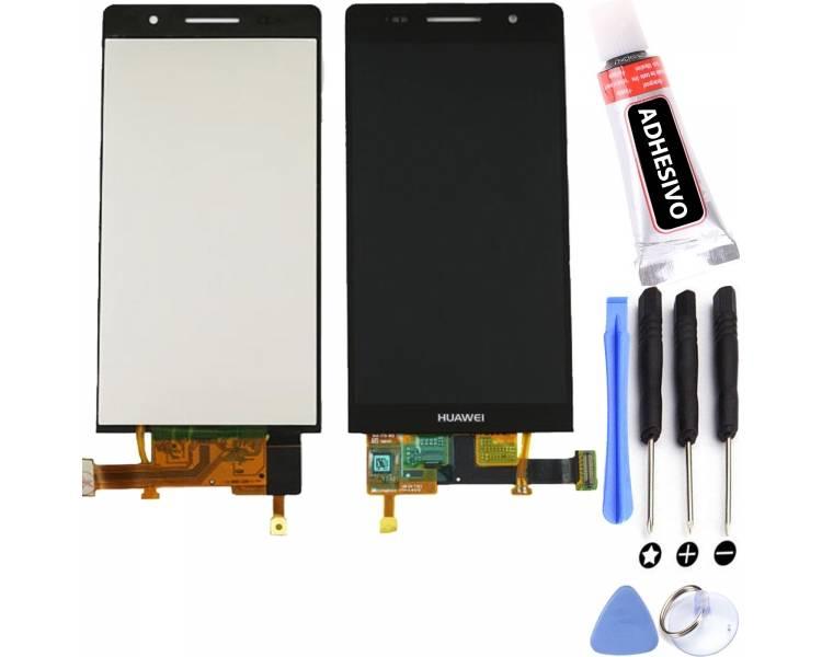 Volledig scherm voor Huawei Ascend P6 Zwart Zwart FIX IT - 1