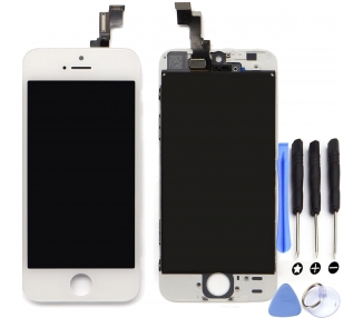 Pełny ekran Retina z ramką dla iPhone 5C Biały Biały