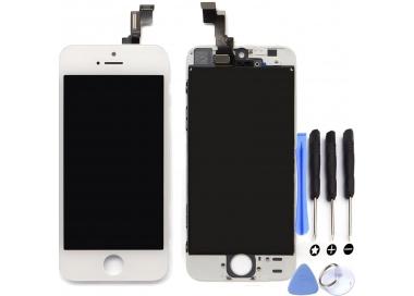 Pantalla Completa Retina con Marco para iPhone 5C Blanco Blanca ARREGLATELO - 1