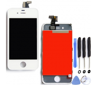 Display For Apple iPhone 4 | Color White |   ULTRA+ - 1