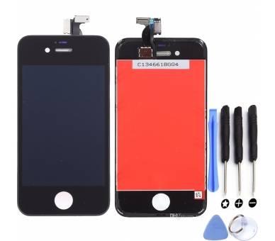 Schermo intero con cornice per iPhone 4S nero nero ARREGLATELO - 1