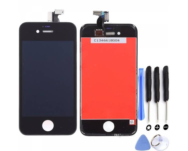 Pełny ekran z ramką dla iPhone 4S Czarny Czarny ARREGLATELO - 1