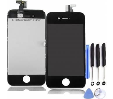 Pantalla Completa con Marco para iPhone 4 Negro Negra ARREGLATELO - 1