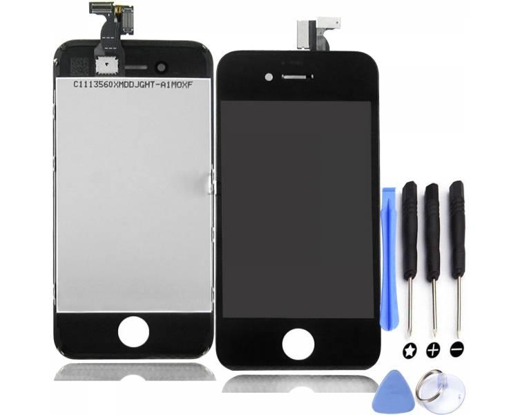 Pantalla Completa con Marco para Apple iPhone 4 Negro Negra ULTRA+ - 1
