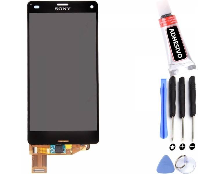Schermo intero per Sony Xperia Z3 Compact Mini D5803 D5833 Nero Nero ARREGLATELO - 1