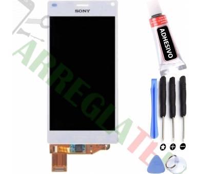 Volledig scherm voor Sony Xperia Z3 Compact Mini D5803 D5833 Wit Wit FIX IT - 1