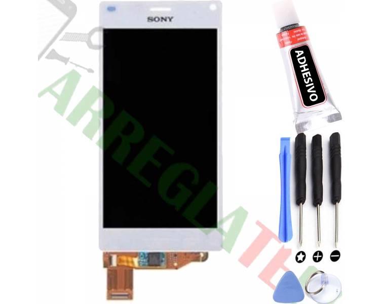 Vollbild für Sony Xperia Z3 Compact Mini D5803 D5833 Weiß Weiß ARREGLATELO - 1
