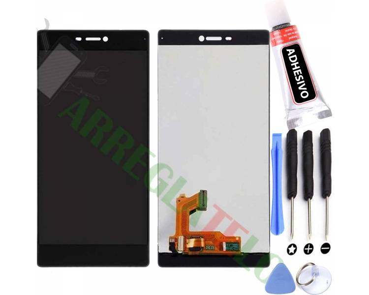 Pantalla Completa para Huawei Ascend P8 Negro Negra ULTRA+ - 1