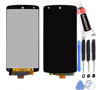 Pełny ekran dla LG Nexus 5 D820 D821 Czarny Czarny ARREGLATELO - 1