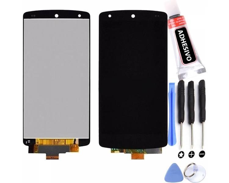 Schermo intero per LG Nexus 5 D820 D821 Nero Nero ARREGLATELO - 1