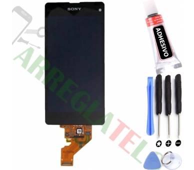 Schermo intero per Sony Xperia Z1 Compact Mini D5503 Nero Nero ARREGLATELO - 1