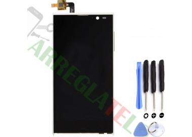 Pantalla Completa para iNew V3 HD Woxter Zielo S11 Blanco Blanca ARREGLATELO - 1