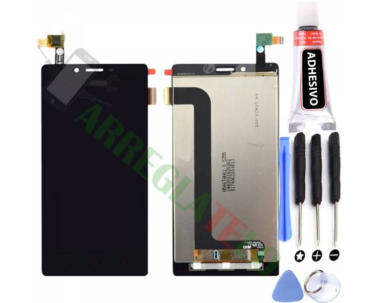 Volledig scherm voor Xiaomi Redmi Note 4G Note 3G 1S Zwart Zwart FIX IT - 1