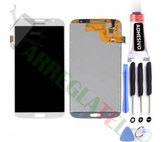 Pełny ekran dla Samsung Galaxy Mega i9200 i9205 Biały Biały