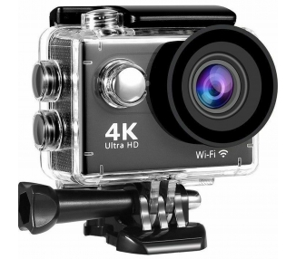 Camara Ultra HD 4K WiFi Vídeo Deportiva Accion Sumergible Impermeable 12MP  - 1