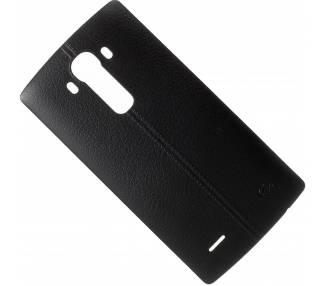 Tapa trasera original para LG G4 de color Negro con efecto cuerro