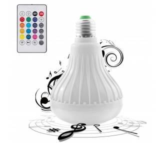 Lampadina Led B22 E27 RGB con telecomando | Bluetooth | Altoparlante musicale wireless  - 1