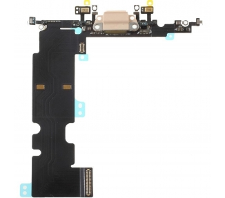 Oplaadflex met microfoon voor iPhone 8 in goudkleur