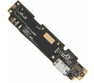 Micro USB-oplaadplaat met microfoonantenne en leds voor Xiaomi Redmi Note 2