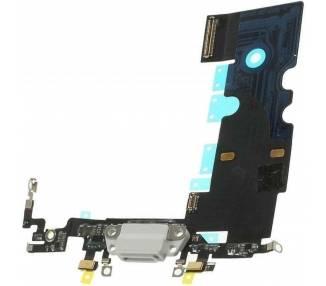 Oplaadflex met microfoon en antenne voor iPhone 8 wit