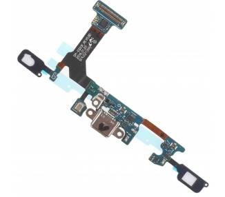 Ladeflex mit Mikrofon und Menü- und Zurück-Tasten für Samsung Galaxy S7 G930
