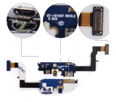 CONECTOR DOCK FLEX CABLE MICROFONO CARGA DATOS USB PARA Samsung Galaxy S2 i9100T Samsung - 1