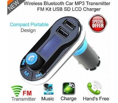 Transmisor FM Cargador USB Reproductor MP3 Manos Libres Bluetooth para Coche ARREGLATELO - 5
