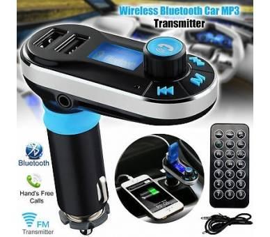 Transmisor FM Cargador USB Reproductor MP3 Manos Libres Bluetooth para Coche ARREGLATELO - 6