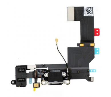 Conector Dock de carga de 3,5 mm puerto Flex Cable para iPhone 5s Negro Apple - 1