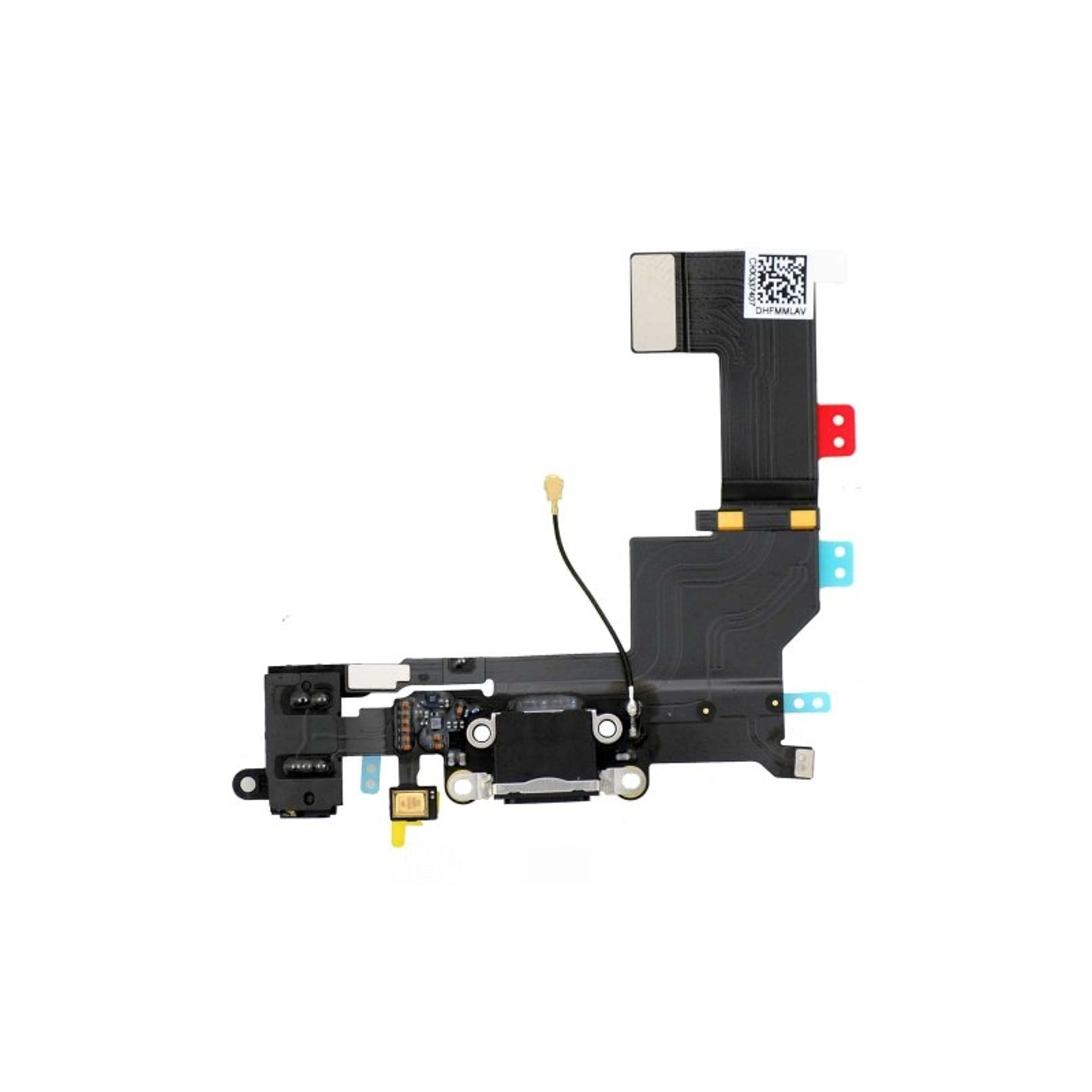 Conector Dock de carga de 3,5 mm puerto Flex Cable para iPhone 5s Negro ARREGLATELO - 1