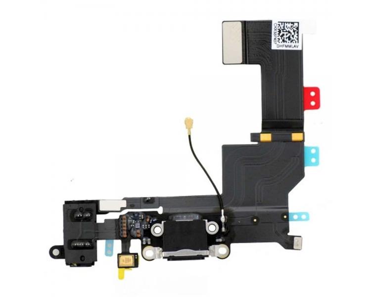 Flex de carga de 3,5 mm puerto Flex Cable para iPhone 5s Negro ARREGLATELO - 1